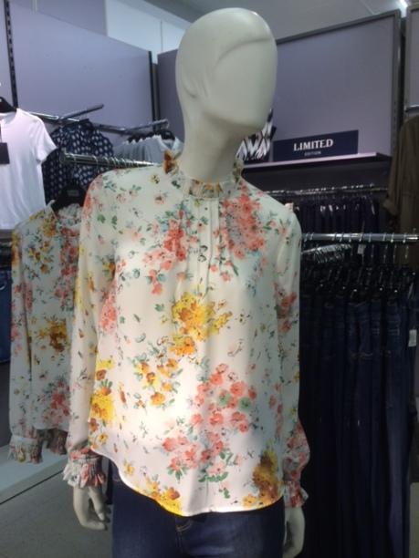 turtle neck floral blouse